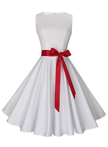 50s white dress - 3