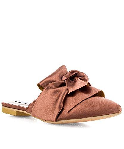 ROF+Women%27s+Fashion+Velvet+Slip+On+Pointy+Toe+Bow+Decor+Slide+Slipper+Loafer+Flats+PINK+%288%29
