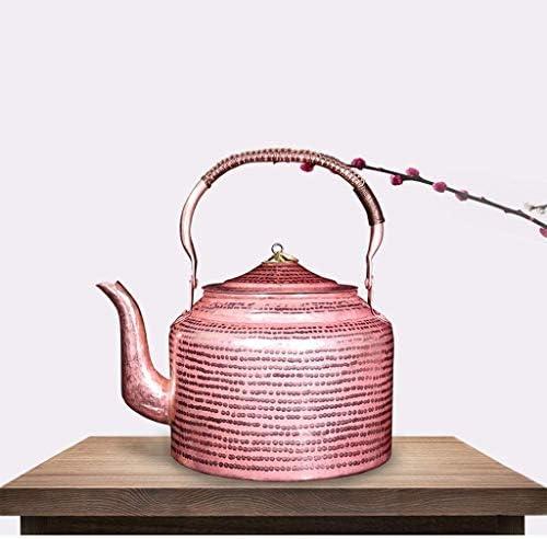 WEHQ Old Village Artisan Cuivre Pot Bouilloire en Cuivre Bouilloire Fait Main Bouilloire en Cuivre Bouilloire Fait Main Grand Pot (Taille: