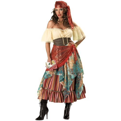InCharacter Costumes Women's Fortune Teller Costume Tan/Red/Blue, Large