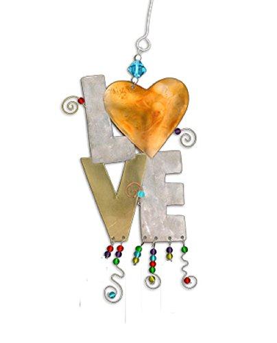 (Pilgrim Imports Handmade Car Charm Bronze Nickel Copper Hanging Ornament - Love)