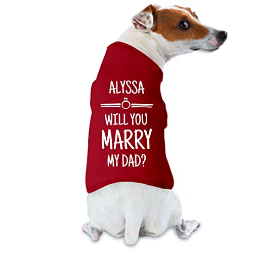 - FUNNYSHIRTS.ORG Alyssa Will You Marry My Dad Proposal: Dog Tank Top