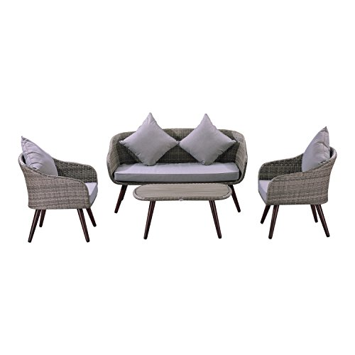 Outsunny Modern Wicker Rattan Conversation Advantages