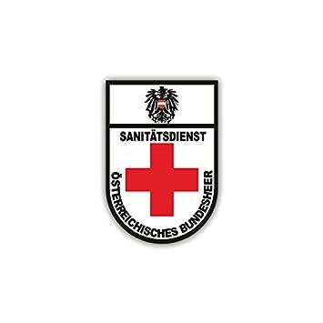 Sanitäter logo  Aufkleber / Sticker - Sanitäter Bundesheer Österreich Sani Wappen ...