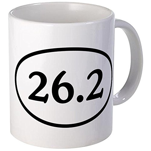 26.2 Oval Marathon Runner (CafePress - 26.2 Marathon Runner Oval Mug - Unique Coffee Mug, Coffee Cup)