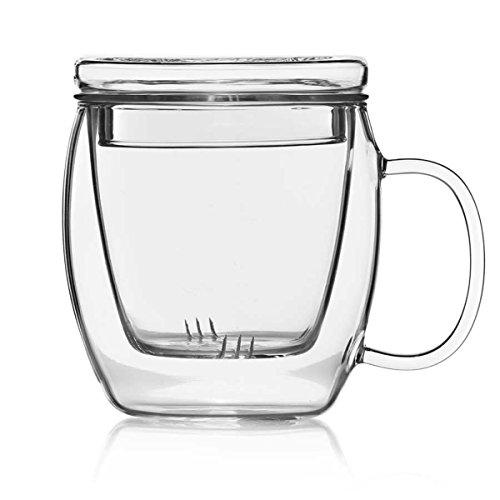 Teemaker Teebereiter Teezubereiter mit Filtereinsatz und Deckel Teekanne & Tasse von Dimono