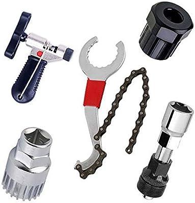 Kits de Herramientas de reparacion de Bicicleta y Bicicletas de montaña,Cortador de Cadena de Bicicleta+Remover de Cadena+Remover de Cordal+Remover de Rueda Libre+Remover de biela: Amazon.es: Bricolaje y herramientas