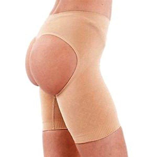 Fullness Valencia Shapewear Butt Lifter Waist Cincher Magic Boy Short 8069 (L-XL, Beige)