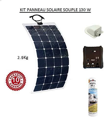 Panneau Solaire Kit de Panneaux solaires monocristallins 12W 12V Module de grille hors port USB du contr/ôleur de charge avec kits de c/âbles de connexion SAE Caravane Camping car Bateau Maison Jardin