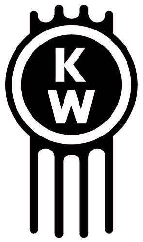 Kenworth logo 5 to 11 blue white black chrome red