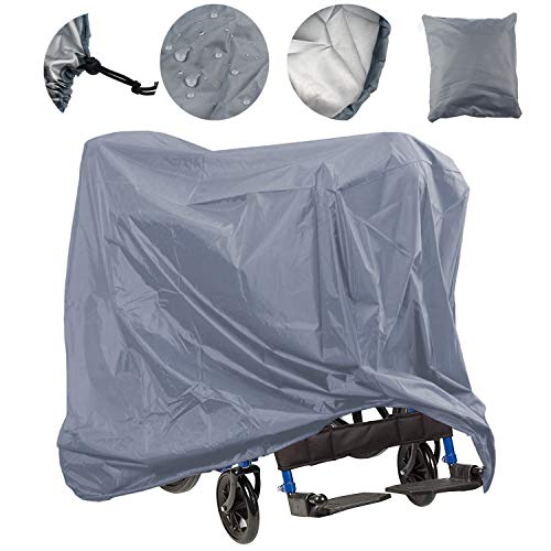 Mobility Scooter Storage Cover, Wheelchair Storage Cover Oxford Fabric Waterproof Lightweight Rain Protector from Dust Dirt Snow Rain Sun Rays - 67 x 24 x 46 inch (L x W x H) ()
