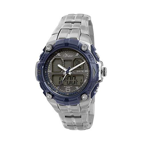 Relógio Masculino Condor Anadigi Coad0912/3c - Prata