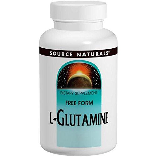 L-Glutamine Powder Source Naturals, Inc. 1 lbs Powder
