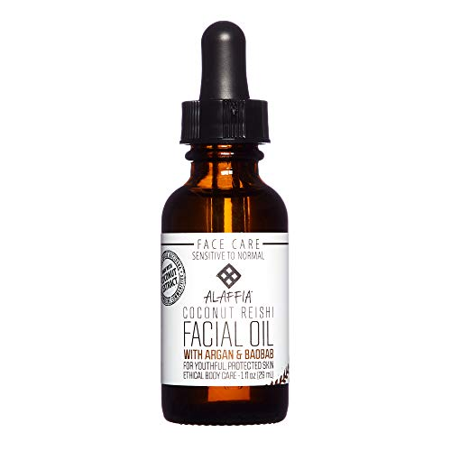 Alaffia - Coconut Reishi Face Serum, Restorative Support to Reduce Wrinkles and Fine Lines with Argan and Baobab Oil, Reishi Mushroom, and Coconut, Fair Trade, 1 Ounce (Best Eye Cream For Women In Their 30s)
