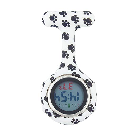 - Alk Digital Silicone Nurse Watch | Fob Pocket Watches | Dog Paw Doctor Gift Medical Hospital Brooch Lapel Clock | Men's Pocket Watches