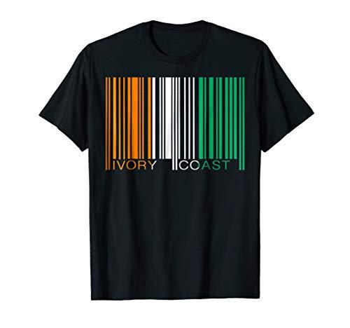 Barcode Ivory Coast Bar Code TShirt Tee Shirt T-Shirt -