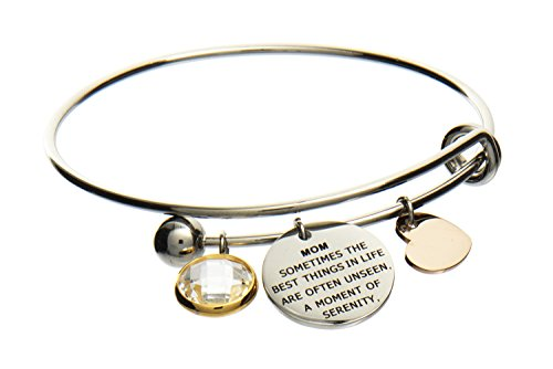 Jewelry Nexus Mom Love Heart Charm Bracelet A Moment of Serenity and Security