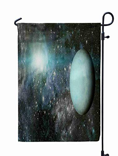 Shorping Welcome Garden Flag, 12x18Inch Planet Uranus Elements This Image Furnished by NASA for Holiday and Seasonal Double-Sided Printing Yards Flags ()
