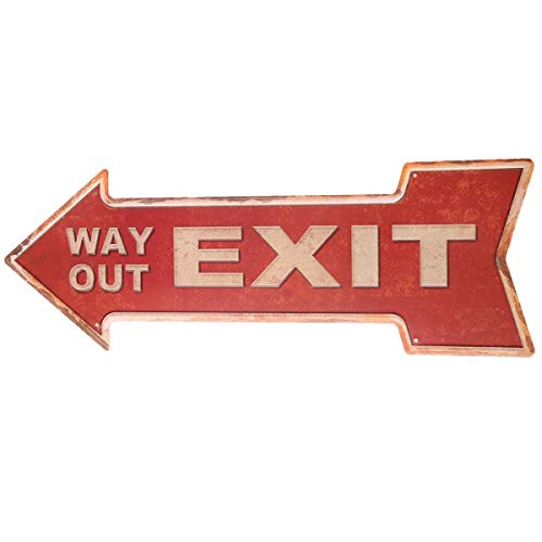Metal Street Sign - HANTAJANSS Street Signs with Way Out Retro Exit Signs for Bar Decoration