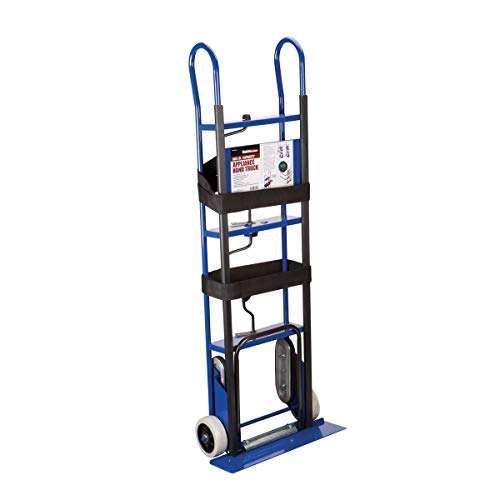 """600 Lb. Capacity Appliance Hand Truck w/Stair Climbers & 6"""" Solid Rubber Wheels"""