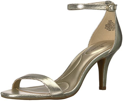 Bandolino Women's madia Heeled Sandal, Platino Lizard, 8 M US Bandolino Womens Dress Sandals