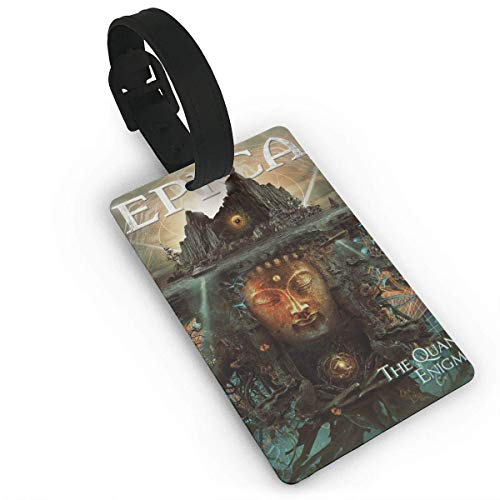 Luggage Tags Holders for Travel Luggage,Luggage Tags for Suitcases, Epica - The Quantum Enigma Luggage Tags, Bag Tag Travel ID Labels Tag for Baggage Suitcases Bags
