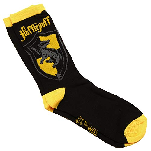 Harry Potter House Crests Adult Crew Socks (Hufflepuff) -