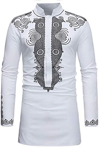 Zhanghanzong-Belt Camisas Casuales con Botones para Hombres Camisa étnica Estampada en una Camisa de Cuello Largo de Manga Larga de los Hombres Camisa Formal elástica Slim Fit para Hombre Casu: Amazon.es: Hogar