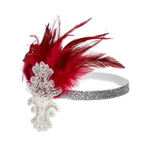 iNoDoZ Women's Party Hair Accessories Headpiece Feather Flapper