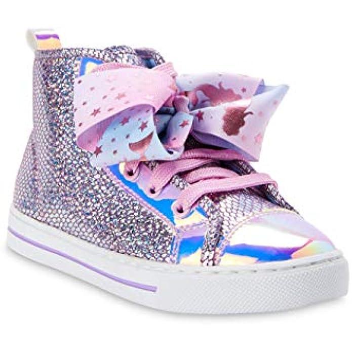 Jojo Siwa Girls Shoes Sneakers High Top Flip Sequin Unicorn Bow