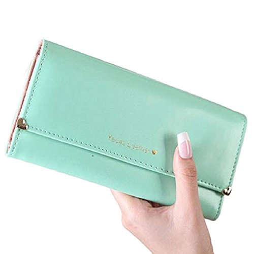 Long Clutch Clearance Noopvan wallets wrist Wallet PU Green cute Leather Wallet 2018 Purse Gift Bags Women Elegant wallet W5XYY1Fqw