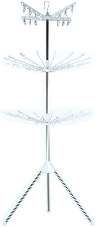 FCXBQ Tendedero Secadora de Ropa Interior Dobladora de Toallas de Acero Inoxidable Plegable (Color: Blanco)