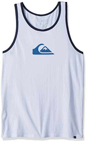 Quiksilver Men's Mountain and Wave Logo Tank, White, ()
