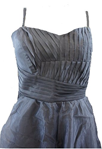 LipsyDamen Kleid, Einfarbig Silber Silver / Grey