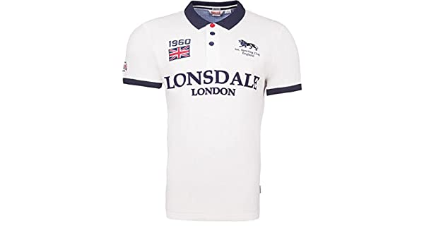 Lonsdale Polo Gatley Men Slim Fit Polo - Color Blanco Blanco S ...