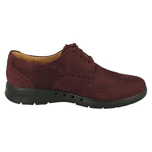 Clarks Un Hinton - Aubergine Leather 4.5 UK
