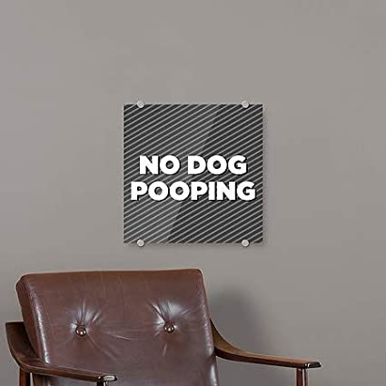 5-Pack 18x12 No Dog Pooping CGSignLab Victorian Gothic Window Cling