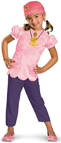 Disney Jake And The Neverland Pirates Izzy Classic Costume, Pink/Purple, Child size Large 4-6X