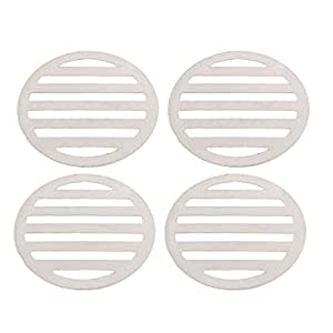 uxcell Kitchen Bathroom Round Floor Drain Drainer Cover 3.4 Inch Dia 4Pcs