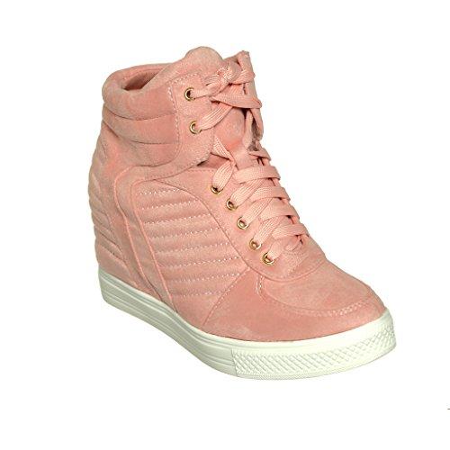 Zapatillas De Deporte Con Cordones Wedge Top Fashion Wedge Pl De Blush