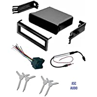 ASC Audio Car Stereo Dash Pocket Kit, Wire Harness, Antenna Adapter, and Radio Removal Tool for installing a Single Din Radio for select VW Volkswagen Vehicles - Compatible Vehicles Listed Below