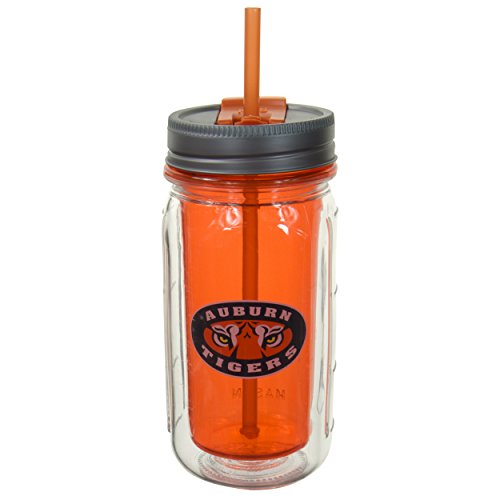 Auburn University Gear (Cool Gear Auburn University Mason Jar, 16 oz, Orange)