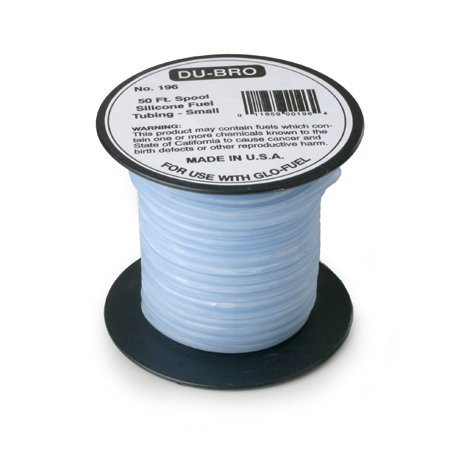 Du-Bro Silicone Fuel Blue Tubing, Small, 50' DUB196 by Dubro Products ()