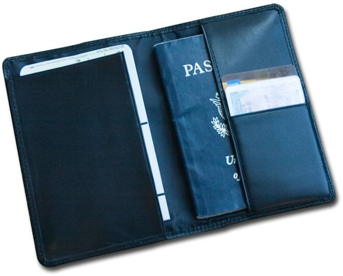 Dacasso Leather Passport Holder, Classic Black (A1042)