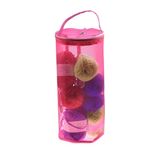 Iuhan Mesh Bag Lightweight New Portable Yarn Crochet Thread Storage Organizer Tote (Hot - Q Wardrobe And B