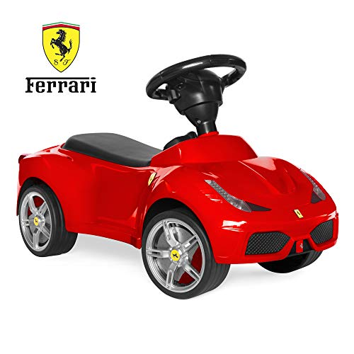 (Best Choice Products Kids Licensed Ferrari 458 Sports Car Ride-On Push Pedal Vehicle w/ Steering Wheel, Horn- Red)