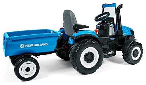 Blue Holland Tractors : Peg perego new holland t tractor trailer blue kids cars