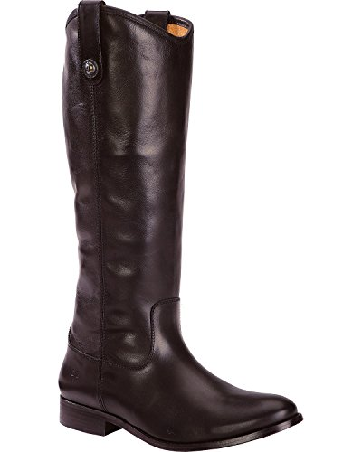 FRYE Women's Melissa Button Boot, Black Soft Vintage Leather, 9 M US by FRYE