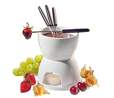 Cilio Porcelain Chocolate Fondue Set, White