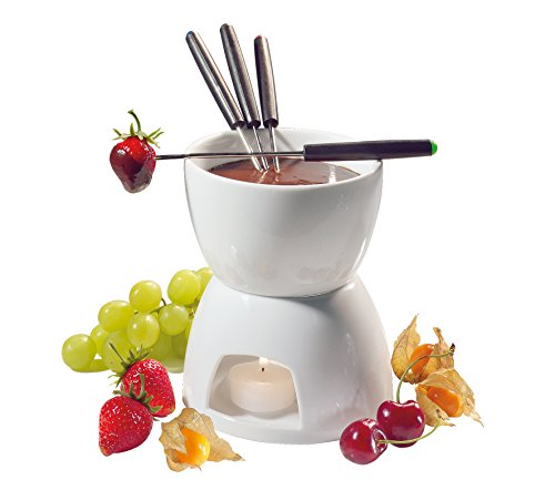 - Cilio Porcelain Chocolate Fondue Set, White